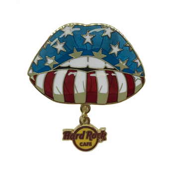 USA Flag Lips Pin