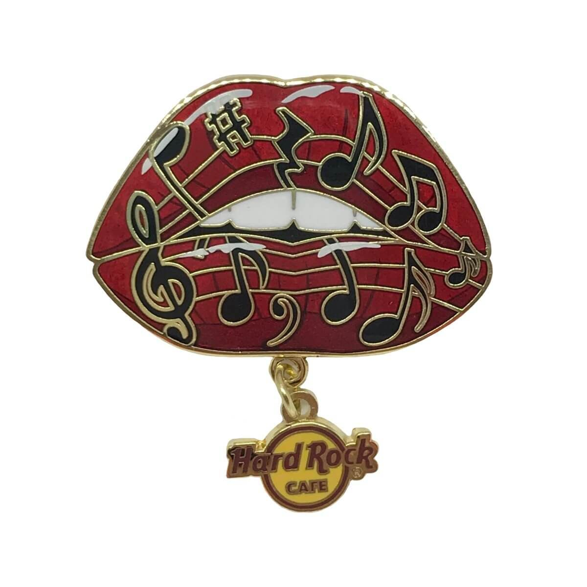 Music Note Lips Pin
