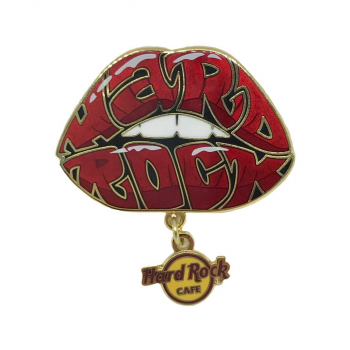 Hard Rock Lips Dangle Pin