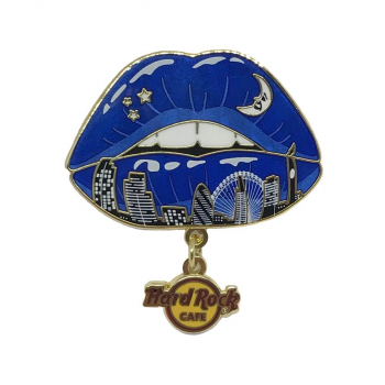 London Cityscape Lips Dangle Pin
