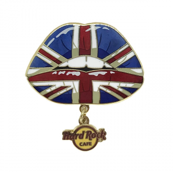 Union Jack Lips Dangle Pin