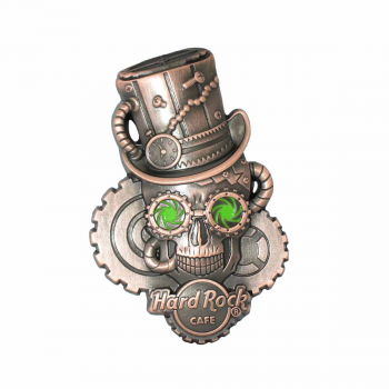 3D Steampunk Skull Pin #2