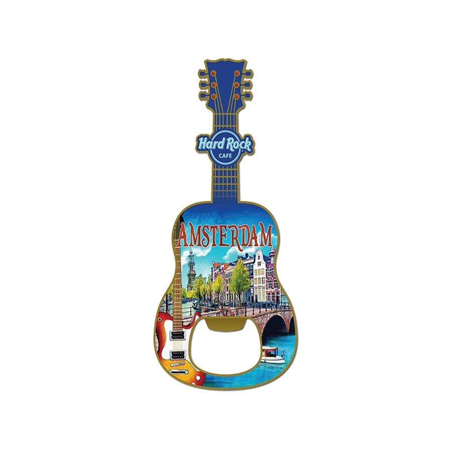 Europe Guitar Bottle Opener Magnet