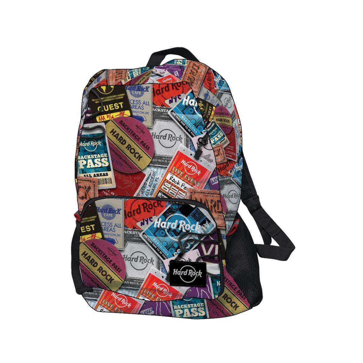 Ultralight Portable Packable Backstage Pass Print Backpack