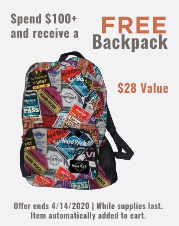 Free Backpack with $100+ Orders