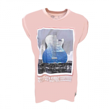 Women's Guitar Hotel Highlow Tee