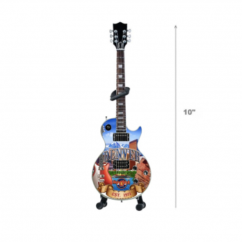 Mini City Art Guitar with Stand