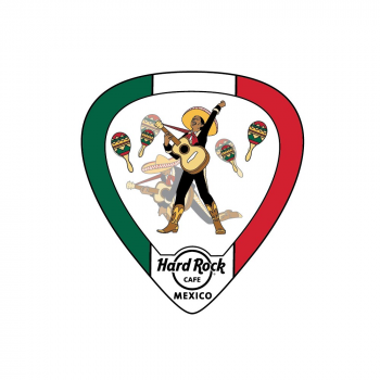 Lenticular Guitar Pick Pin Mexico