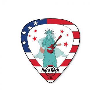 Lenticular Flag Guitar Pick Pin USA
