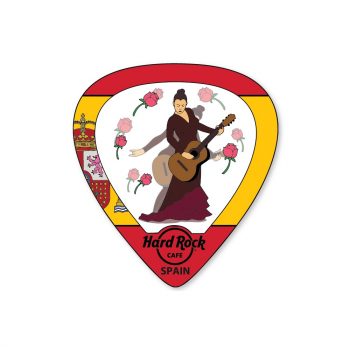 Lenticular Flag Guitar Pick Pin Spain