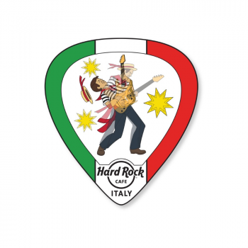 Lenticular Flag Guitar Pick Pin Italy