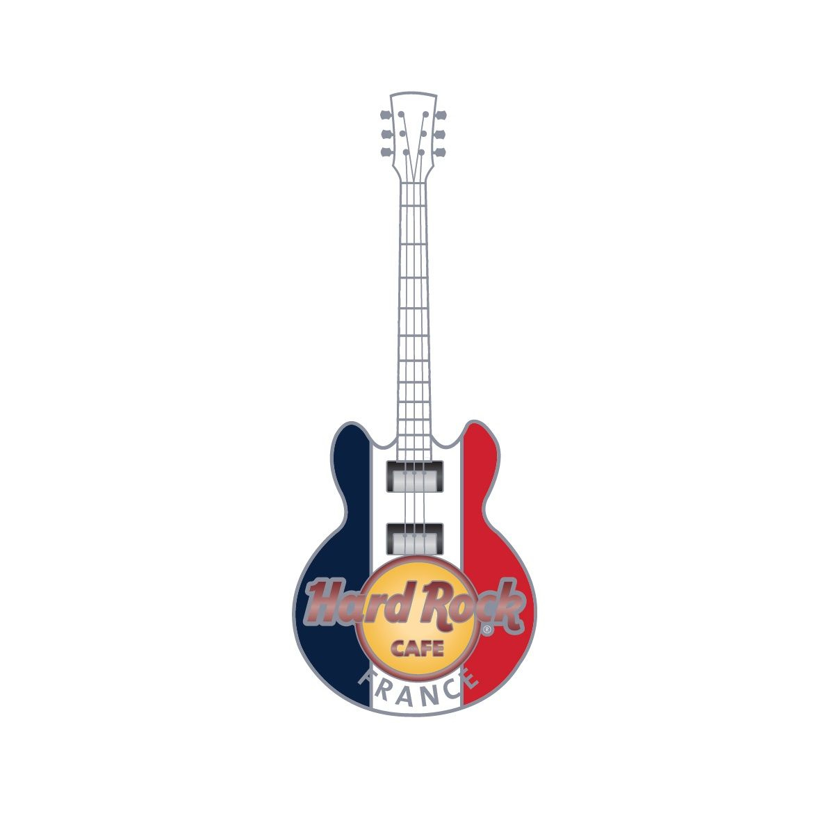 3D Country Flag Guitar Pin France