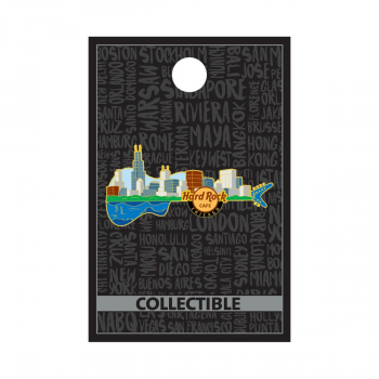 Chicago City Scape Guitar Pin