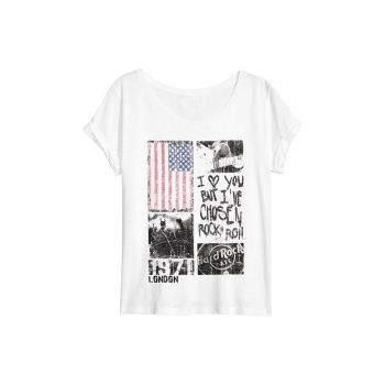Women's Flag Sheer Panel Tee