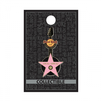 Hollywood Pink Star Guitar Pin