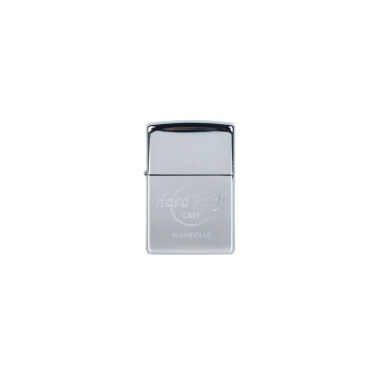 Zippo Chrome Etched Logo Lighter