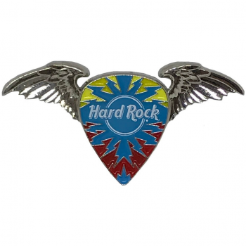 3D Winged Guitar Pick Deco Pin