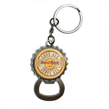 Bottle Cap Keychain with Hidden Opener