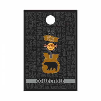Pigeon Forge Bear Crossing Guitar Pin