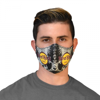 Guitar Print Face Mask