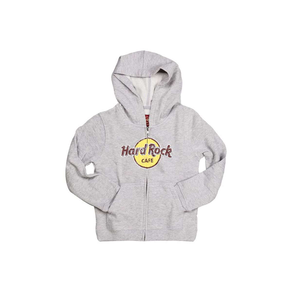 Youth Zipup Distressed Logo Hood Sweatshirt