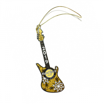 Gold Guitar Ornament 2019