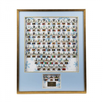 2015 Holiday Snow Globe Framed Set