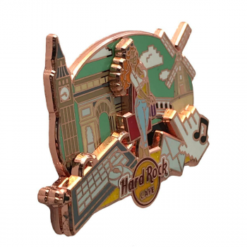 Global Cityscape Girl Pin