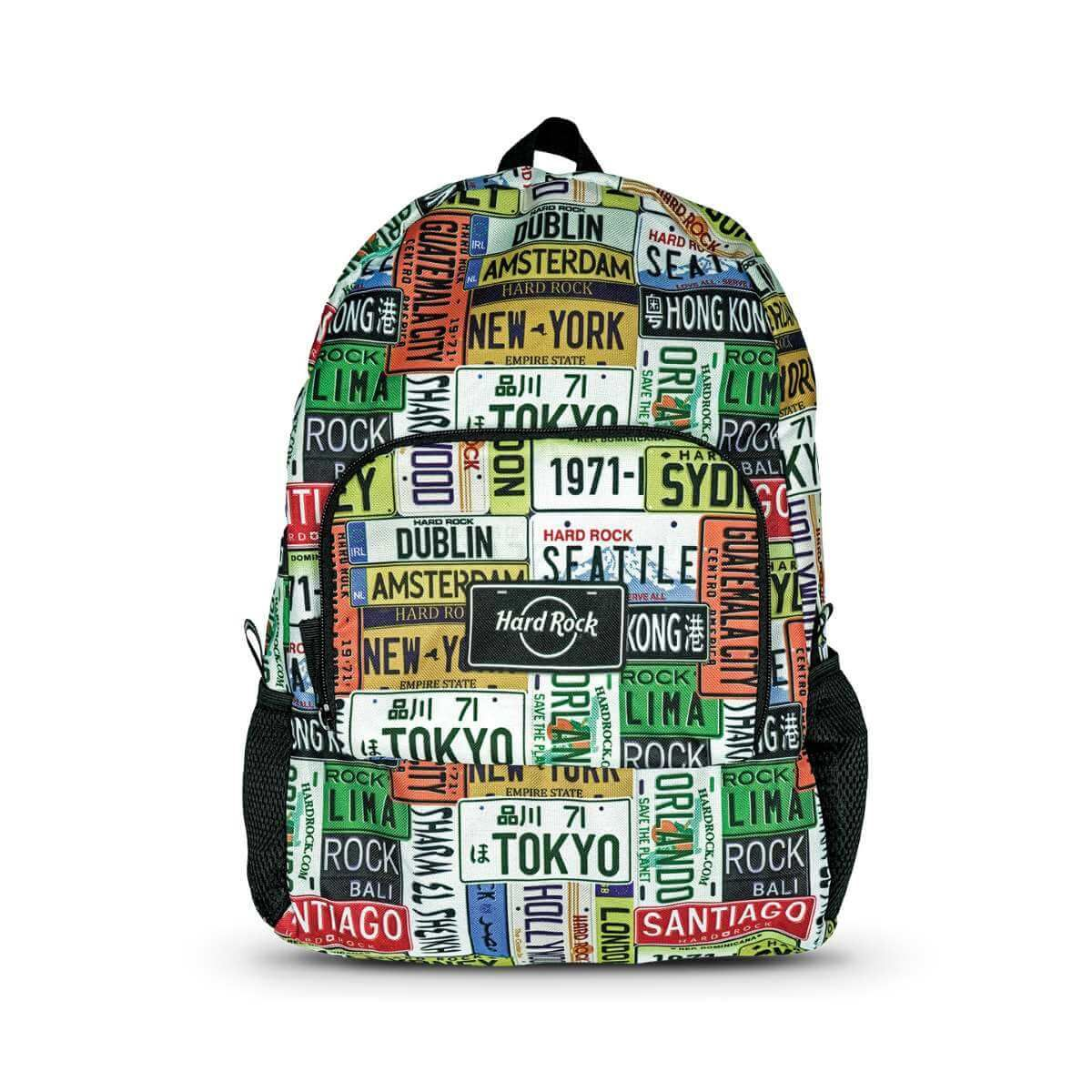 Ultralight Portable Packable License Plate Print Backpack