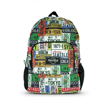 License Plate Print Backpack