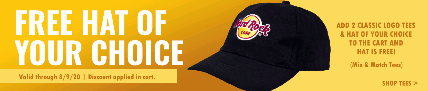 Hard Rock Free Hat with Classic Tees