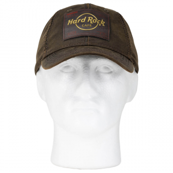 Brass Logo Oil Cloth Hat