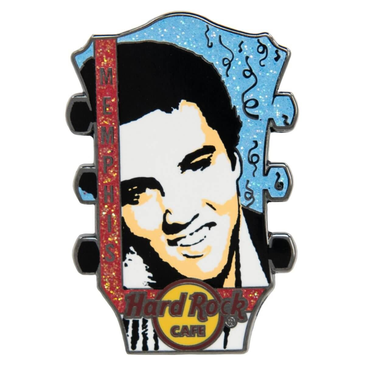 Memphis The King Headstock Pin
