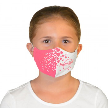 Kids Hearts & Music Notes Face Mask