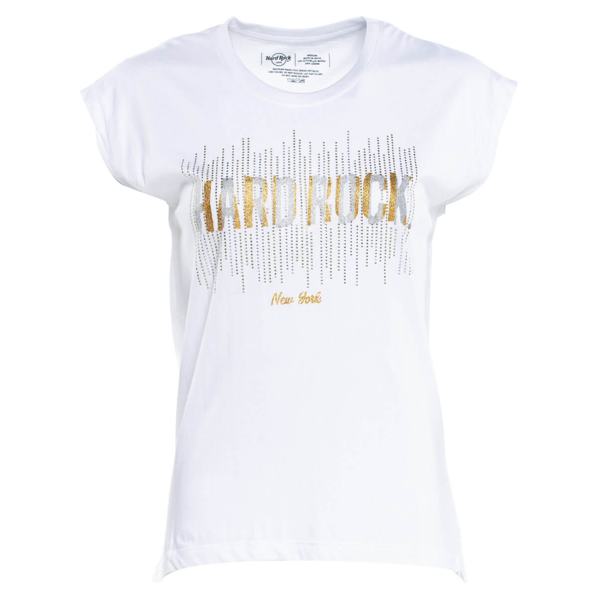 Women's Gold & Silver Crystal Tee