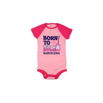 Girl's Infant Color block Raglan Onesie