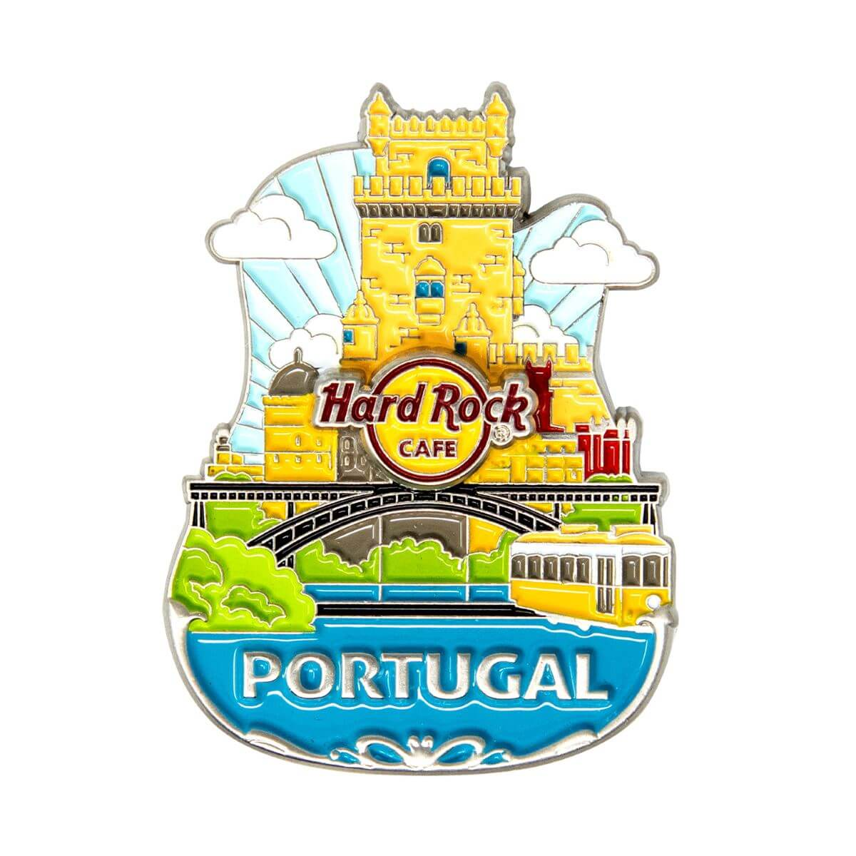 3D Country Icon Pin Portugal