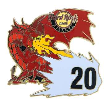 Fire Dragon Puzzle Piece Pin Atlanta