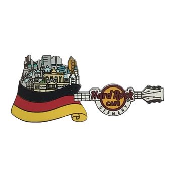 Flag Over Country Pin Germany