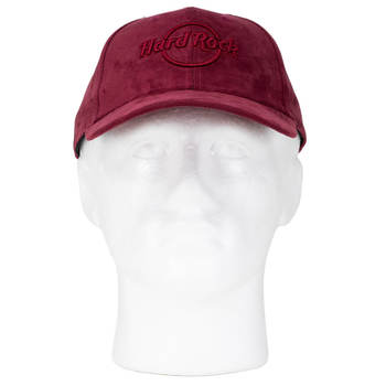 Merlot Sueded Logo Hat