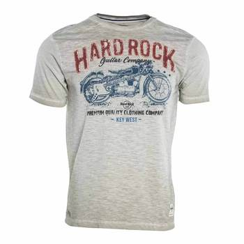 Men's Pigment Wash Motorcycle Graphic Tee