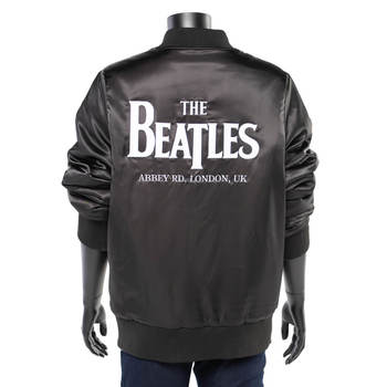 Unisex The Beatles Photo-Lined Satin Bomber Jacket