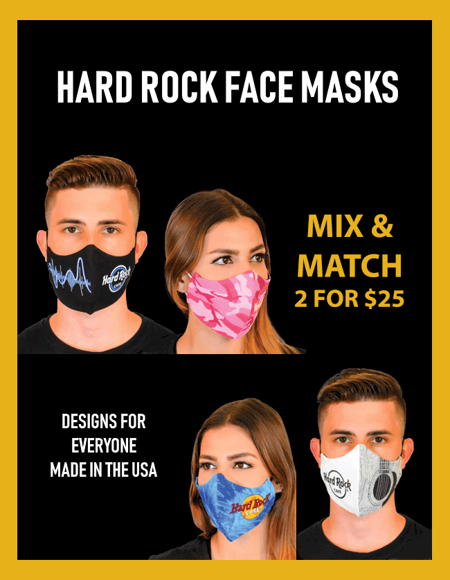 Hard Rock Face Masks