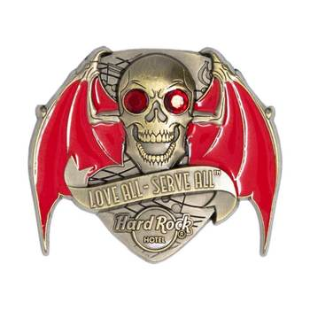 3D Skull with Wings Pin Hard Rock Hotel