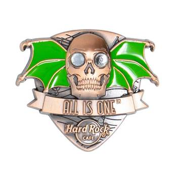3D Skull with Wings Pin Hard Rock Cafe