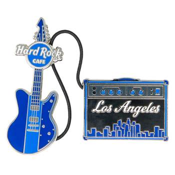 Cityscape Guitar & Amp Pin Set Los Angeles