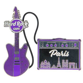 Cityscape Guitar & Amp Pin Set Paris