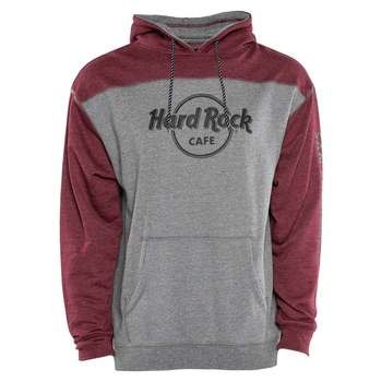 Unisex Logo Fleece Hoodie Burgundy/Grey