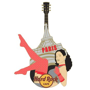 Paris Burlesque Guitar Pin