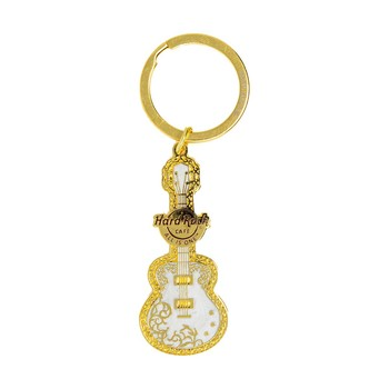 Ornate Foil Guitar Keychain